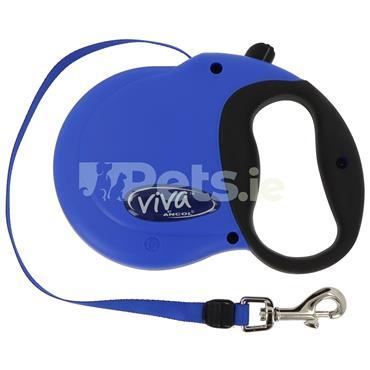 Viva Retractable Dog Lead Blue