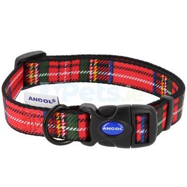 Red Tartan Dog Collar
