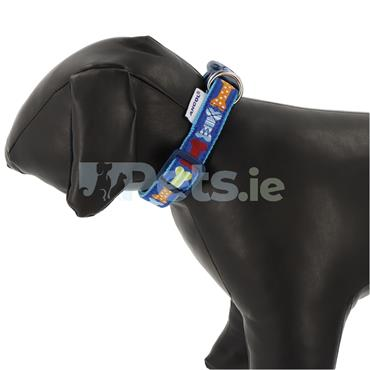 Blue Bones Dog Collar