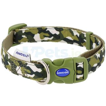 Green Combat Dog Collar