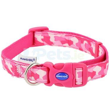 Pink Combat Dog Collar