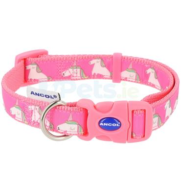 Pink Unicorns Dog Collar