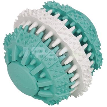 Dental - Rubber Spikey Ball - Turquoise and White