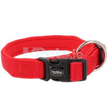 Classic Preno - Dog Collar - Red/Red