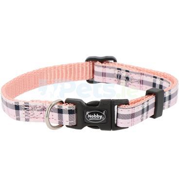 Tartan - Puppy Collar - Pink
