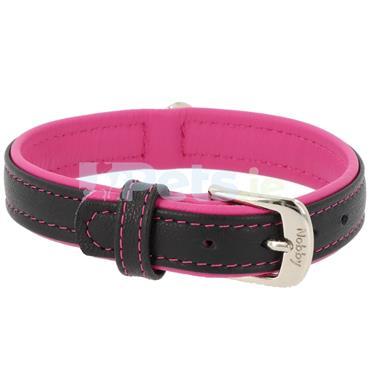 Pacific - Leather Dog Collar - Fuchsia