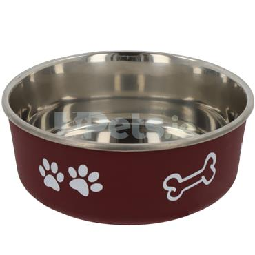 Stainless Steel Bowl - Fusion - Red