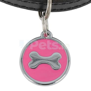 ID Tag Deluxe - Bone - Pink
