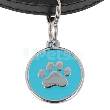 ID Tag Deluxe - Paw - Light Blue