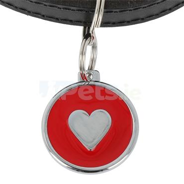 ID Tag Deluxe - Heart - Red