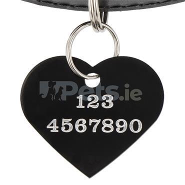 ID Tag - Black Heart