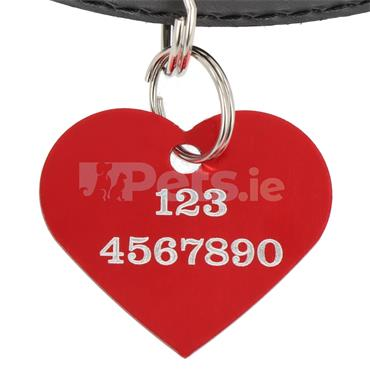 ID Tag - Red Heart