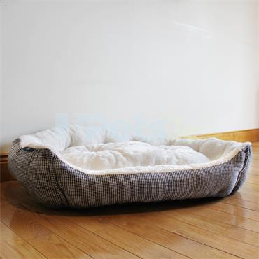 Plush Houndstooth - Lounger