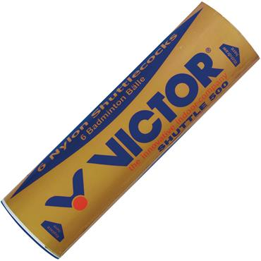 Victor Shuttle 500 Nylon Shuttlecocks | 6 Pack