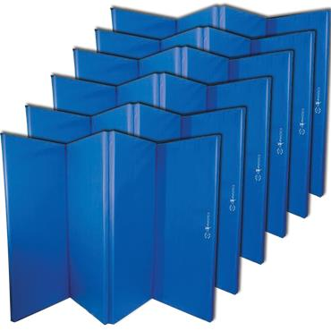 Sure Shot Foldable Gymnastics Mats 50mm | Blue (6 Pack)