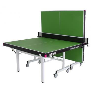 Butterfly National League 25 Rollaway Indoor Table Tennis Table | Green