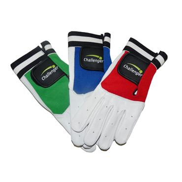 Challenger Handball Gloves Adult Padded | Green/Blue/Red