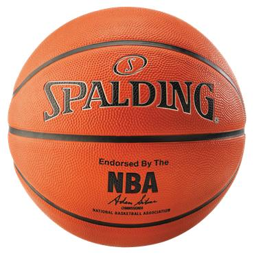 Spalding NBA Silver Outdoor Basketball | Size 6