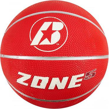 Baden Zone Rubber Coloured Basketballs (Red) | Size 5