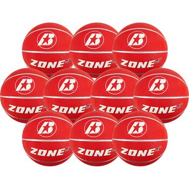 Baden Zone Size 5 Rubber Coloured Basketballs | 10 Pack with Bag