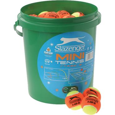 Slazenger Mini Orange Tennis Ball Bucket