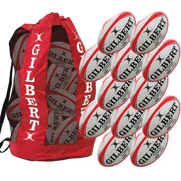 Gilbert G-TR4000 12 Rugby Ball Pack (Size 4)