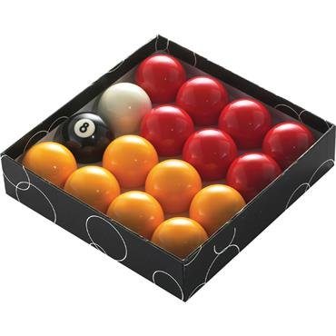 Powerglide 1 7/8in Red & Yellow Pool Ball Set