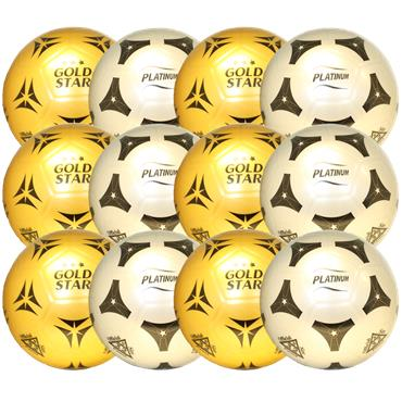 Bellco Platinum Gold/Silver Football (12 pack)