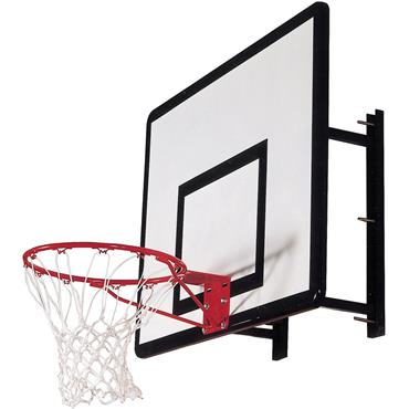 Heavy Duty Basketball Wall Mount with Hoop and Ring