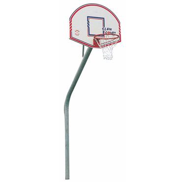 Slimline Gooseneck Inground Basketball Unit
