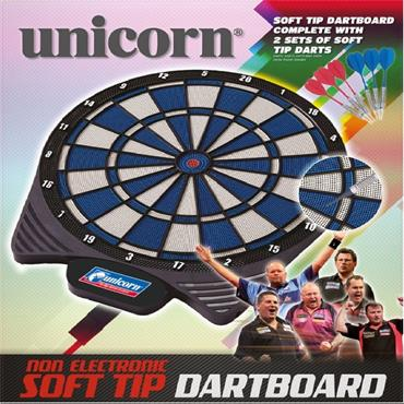 Unicorn Soft Tip Dartboard with 2 Sets of Darts