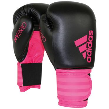 Adidas Hybrid Boxing Gloves Pink 10oz