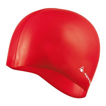 AquaSphere Classic Silicone Swim Cap | Red
