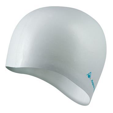 AquaSphere Classic Silicone Swim Cap | White