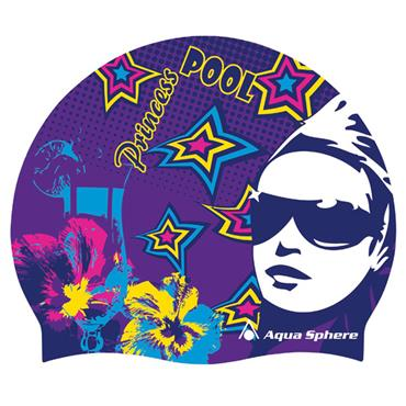 AquaSphere Princess Graphic Silicone Swim Cap | Pink