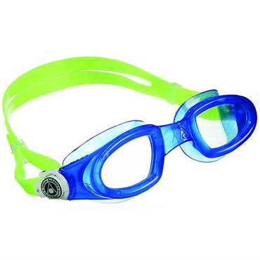 AquaSphere Mako Adult Goggle Clear Lens | Blue/White
