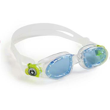 AquaSphere Moby Kid Goggle Blue Lens | Clear/Lime
