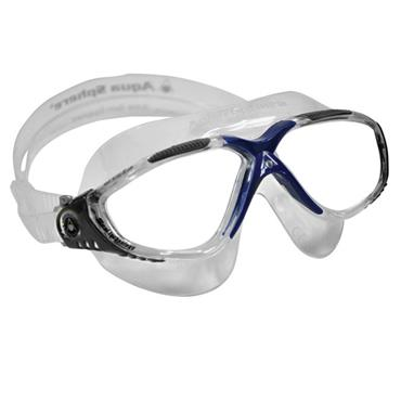 AquaSphere Vista Adult Goggle Clear Lens | Clear/Grey/Blue