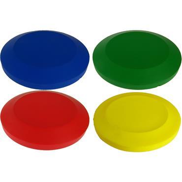 Foam Discus Team Colours 4 Pack