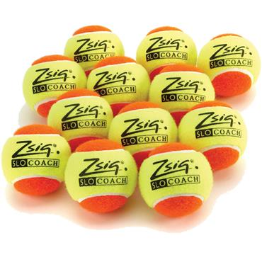 ZSIG Orange SloCoach Mini Tennis Balls (12 PK)