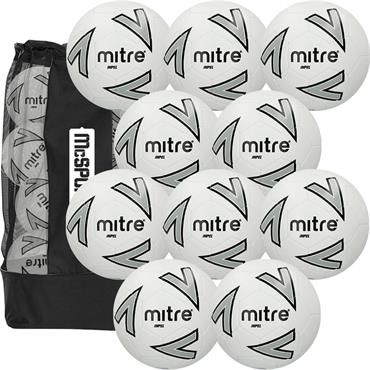 Mitre Impel Football 10 Ball Pack with Carry Bag | Size 5