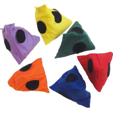 First-Play® Pyramid Beanbags (Set of 6)