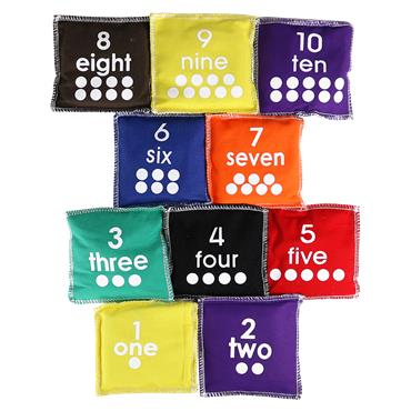 First-Play Number Beanbags Set (10)