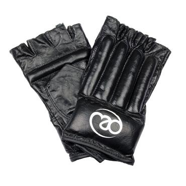 Fitness-Mad Leather Pro Fingerless Bag Mitts | Large