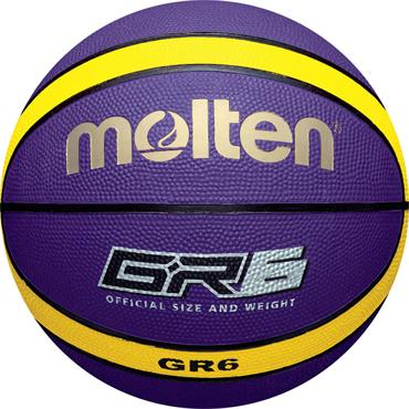 Molten Purple/Yellow Rubber Basketball