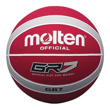Molten Rubber Indoor/Outdoor Basketball (Red/Silver) | Size 6