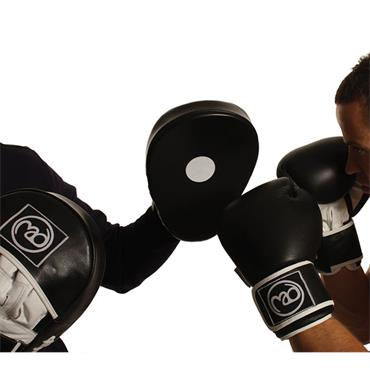 Fitness-Mad Curved Leather Hook & Jab Pads Boxing