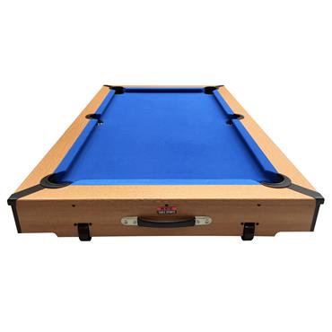 5ft Rolling Lay Flat Folding Pool Table | Blue