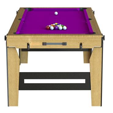 6ft Rolling Lay Flat Folding  Pool Table | Purple