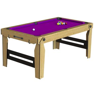 BCE 6' Rolling Lay Flat Pool Table